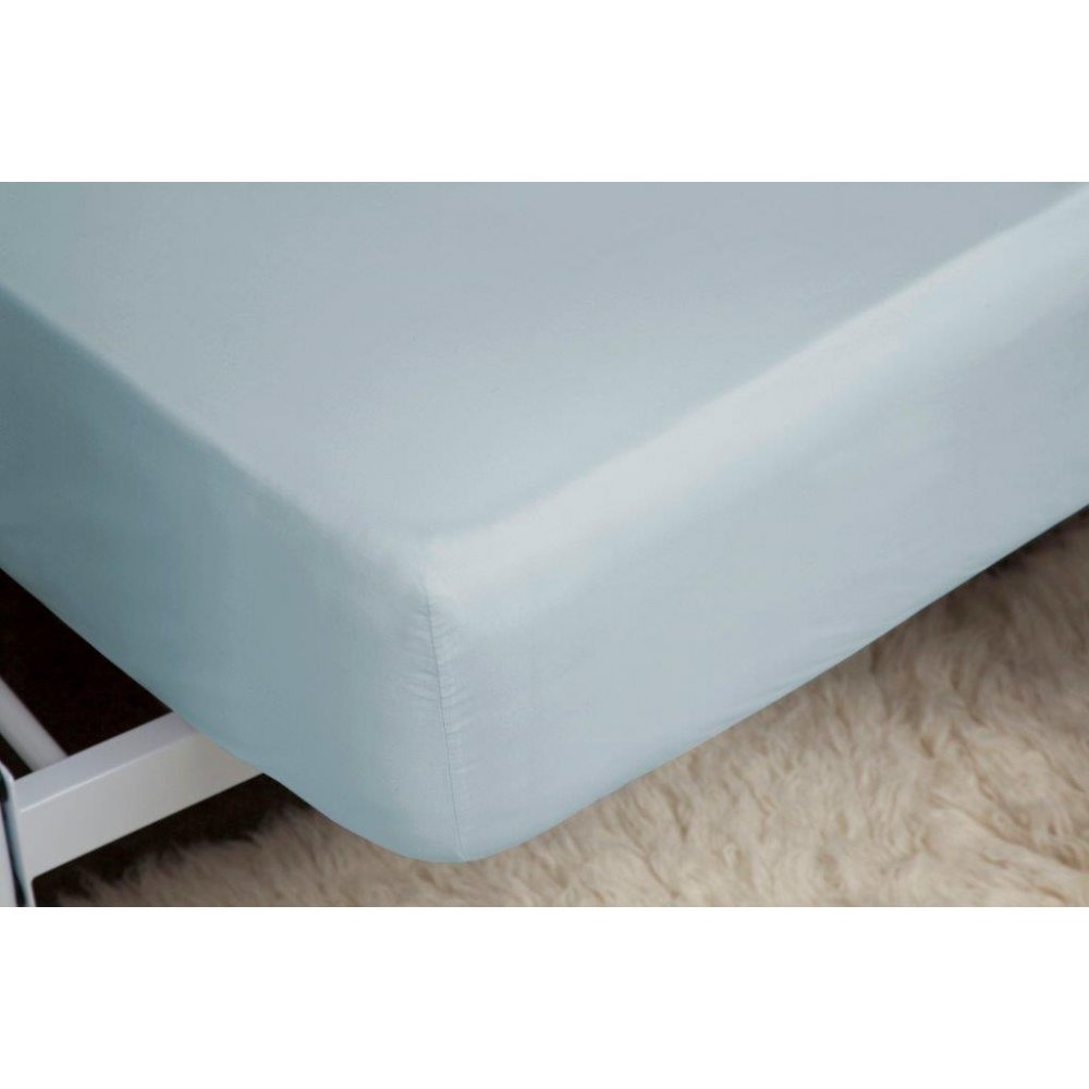 400 Thread Count Egyptian Cotton Fitted Sheet in Duck Egg Blue