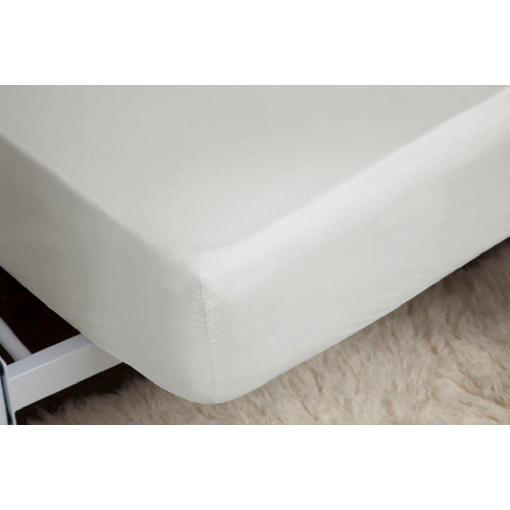 400 Thread Count Egyptian Cotton Fitted Sheet in Ivory