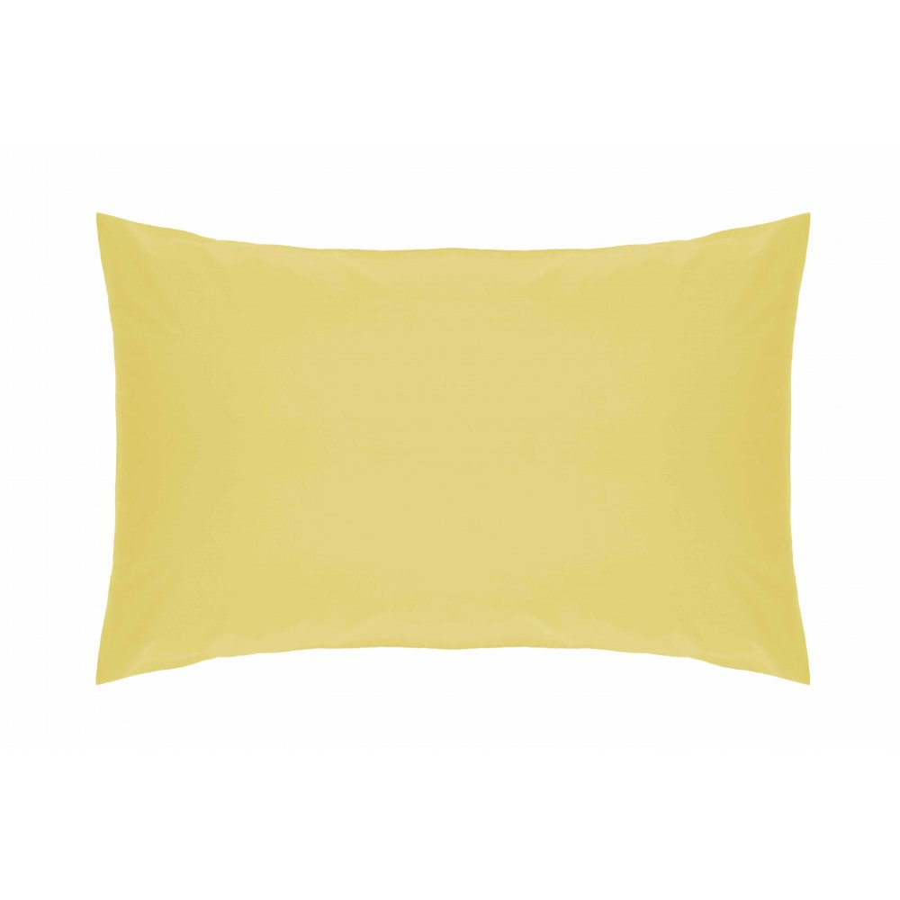 200 Thread Count Pure Combed Cotton Bed Linen In Lemon
