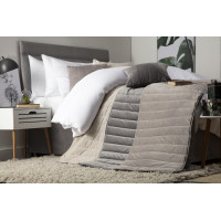 Luxurious Quilted Faux Suede Bed Runner