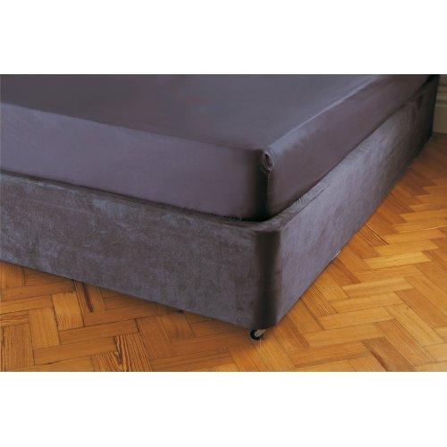 Belledorm divan bed base wrap in charcoal grey for Grey double divan base
