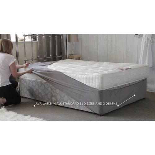 Belledorm divan bed base wrap in charcoal grey for Divan bed sheet