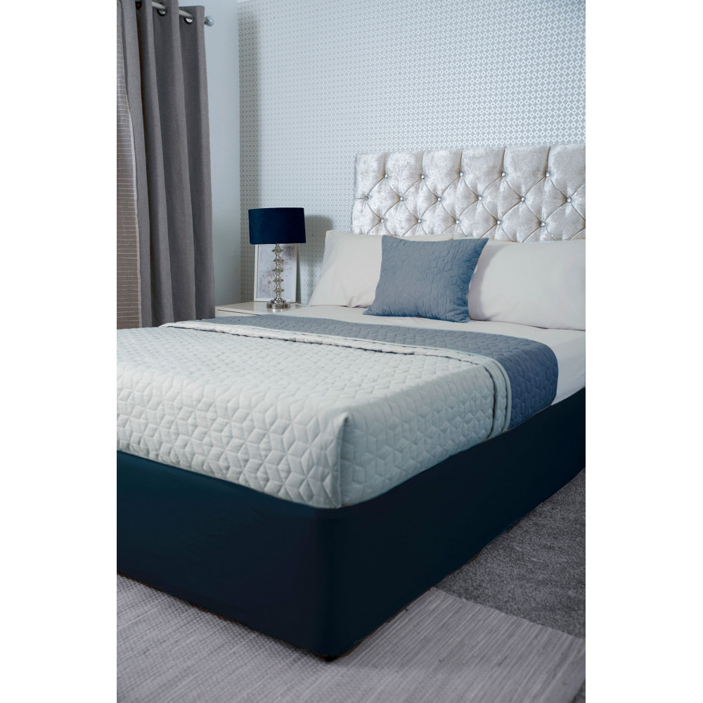 Jersey Cotton Divan Bed Base Wrap in Navy Blue