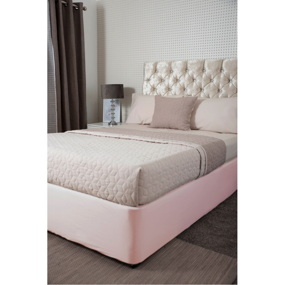 Jersey Cotton Divan Bed Base Wrap in Powder Pink