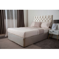 Jersey Cotton Divan Bed Base Wrap in Linen Beige