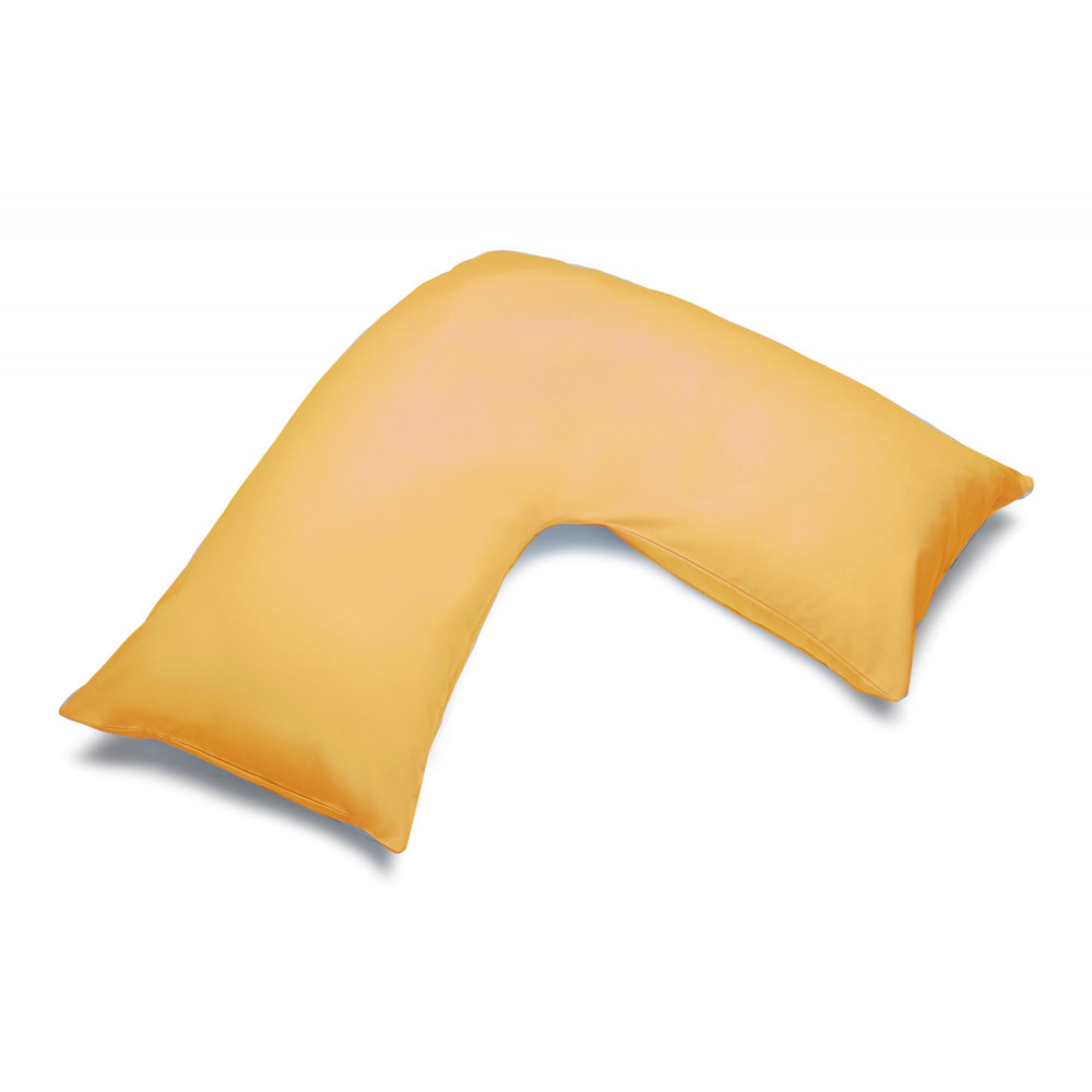 Polycotton V Shaped Maternity Pillow Case in Saffron Yellow