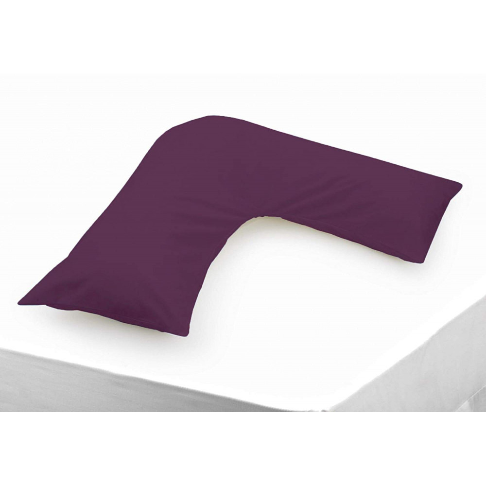 Polycotton V Shaped Maternity Pillow Case in Aubergine
