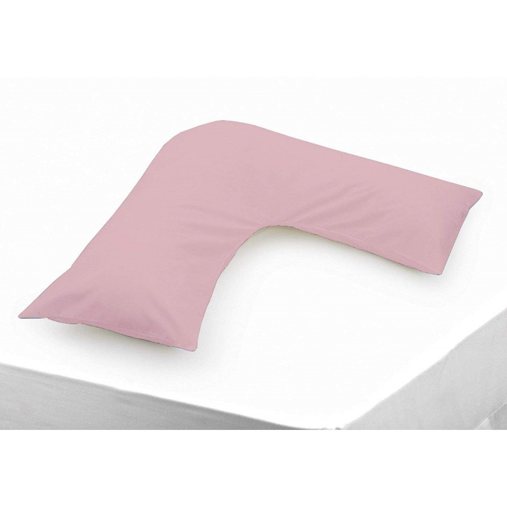 Polycotton V Shaped Maternity Pillow Case in Blush Pink