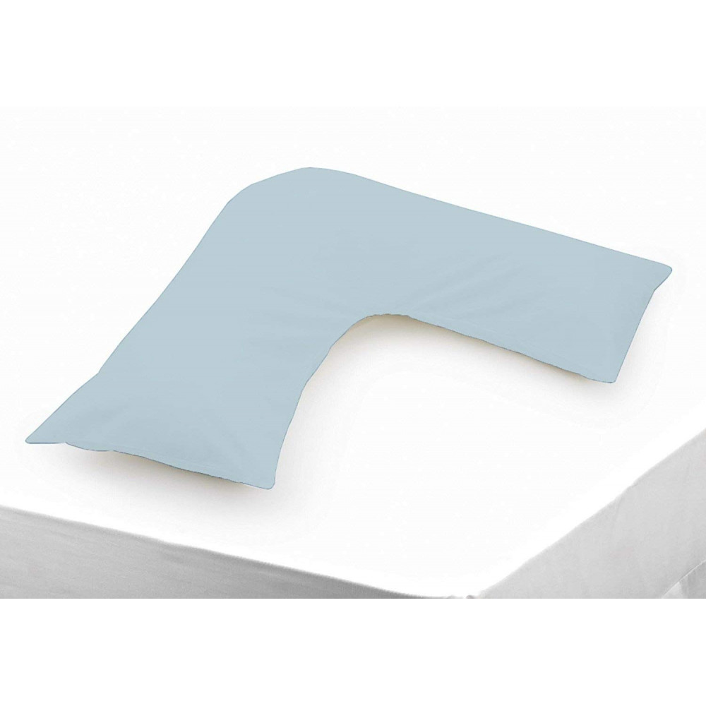 Polycotton V Shaped Maternity Pillow Case in Duck Egg Blue