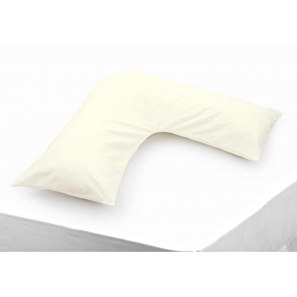 Polycotton V Shaped Maternity Pillow Case in Ivory
