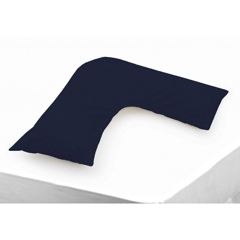 Polycotton V Shaped Maternity Pillow Case in Navy Blue