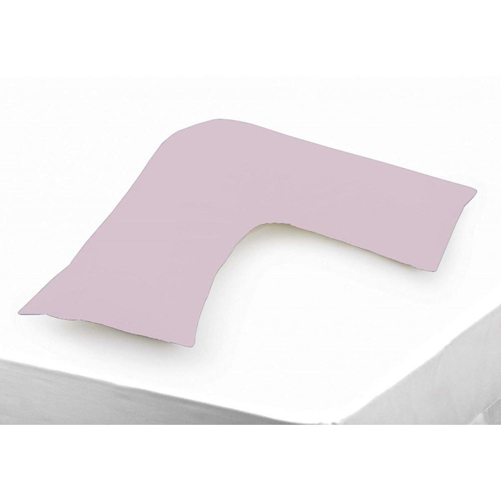 Polycotton V Shaped Maternity Pillow Case in Palma Violet