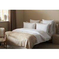 100% Cotton Waffle Weave Duvet Cover Set in White