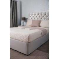 Jersey Cotton Divan Bed Base Wrap in Pale Grey