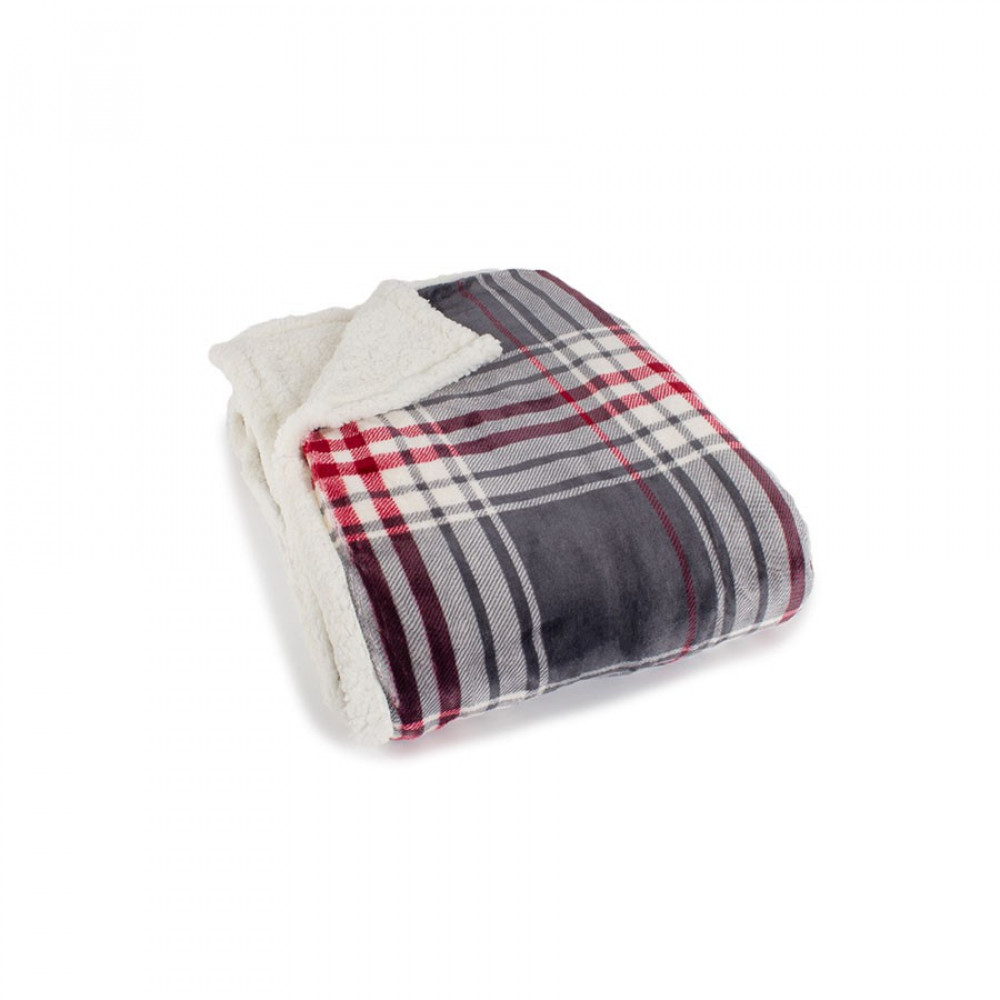 Check Supersoft Throw with Sherpa Fleece Reverse