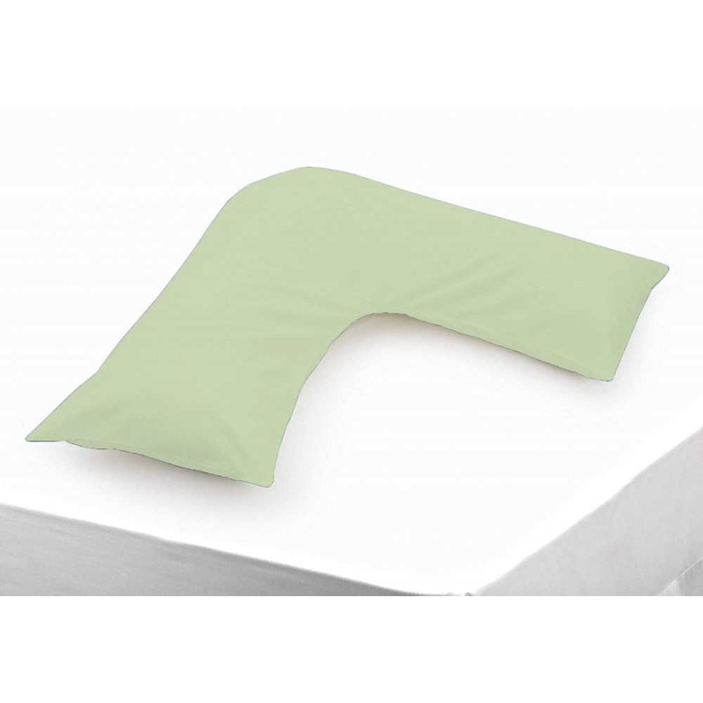 Polycotton V Shaped Maternity Pillow Case in Apple Green
