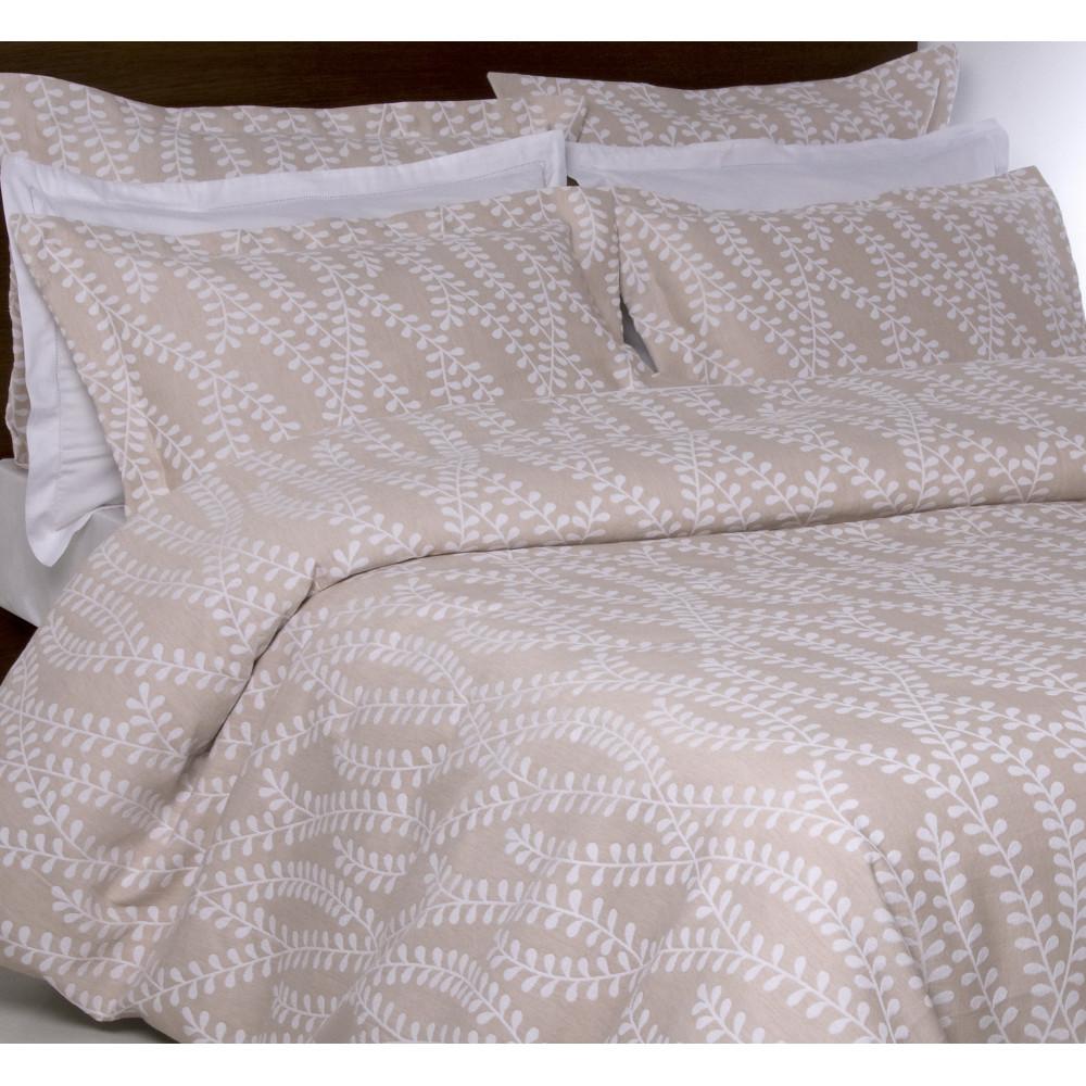 100% Cotton Jacquard Design Duvet Cover in Linen Beige