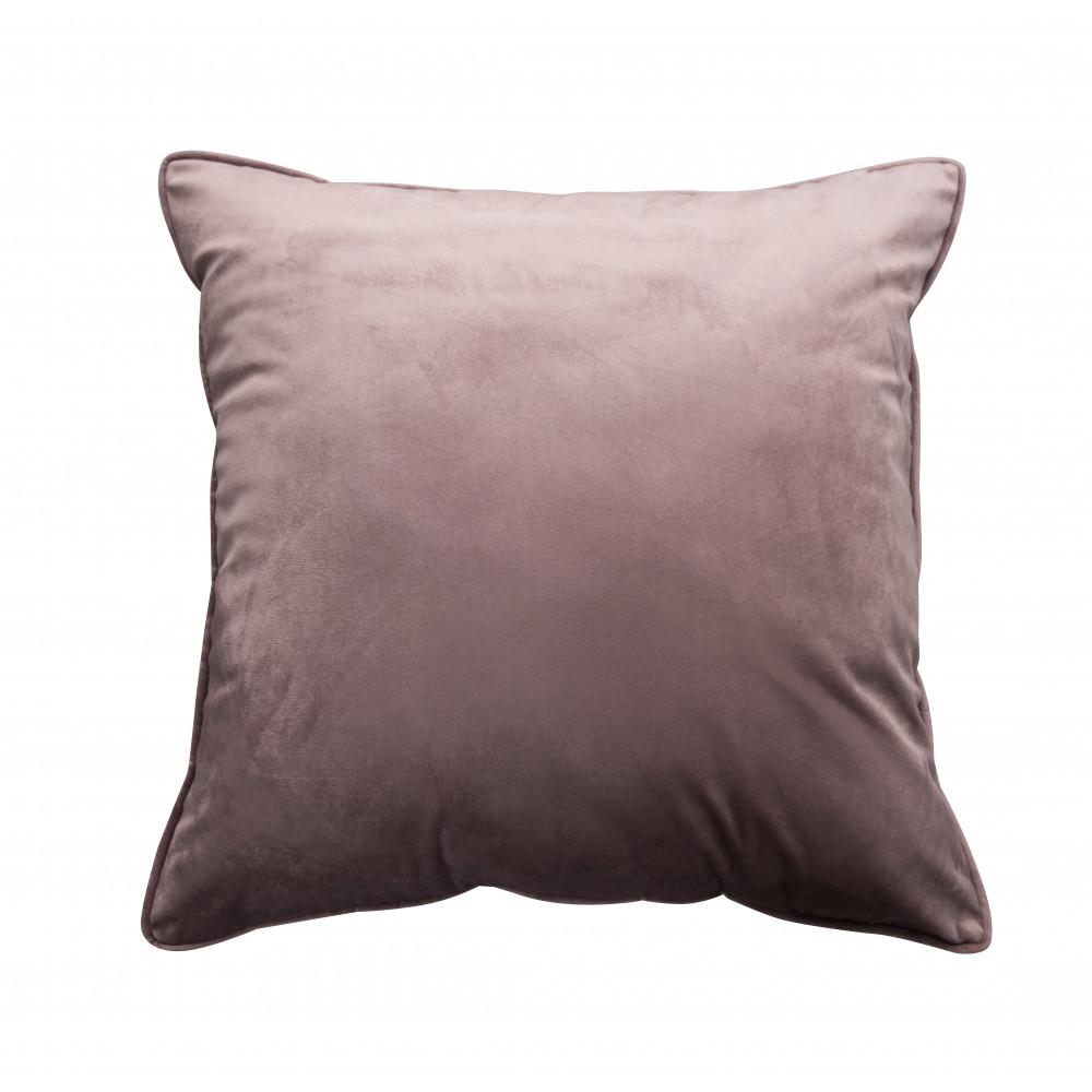French Velvet Cushion in Blush Pink