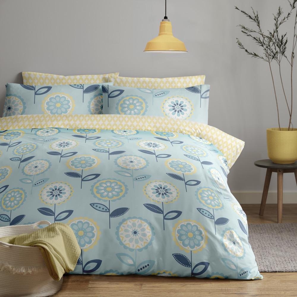 Large Bloom Design Duvet Cover Set