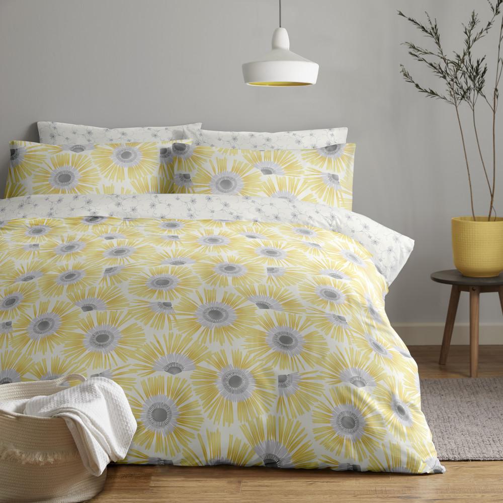 Large Flower Design Duvet Cover Set