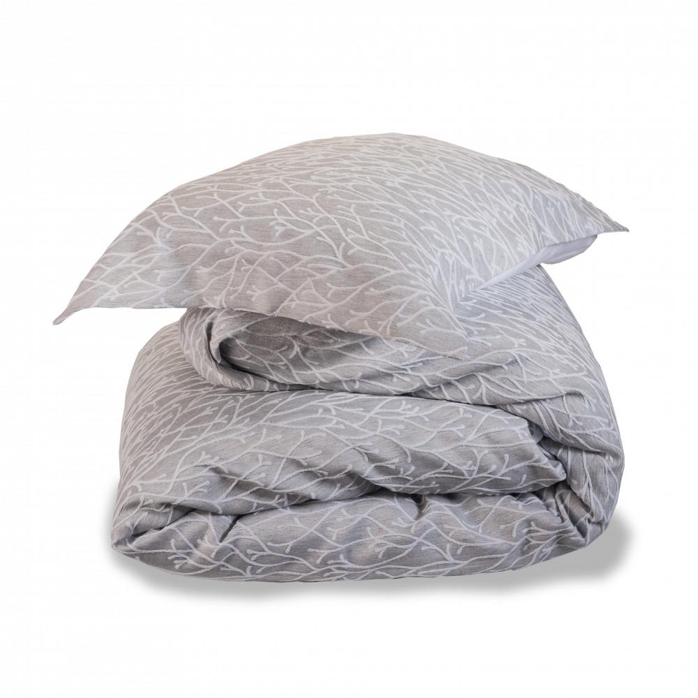 100% Cotton Jacquard Design Trail Duvet Cover in Dove Grey