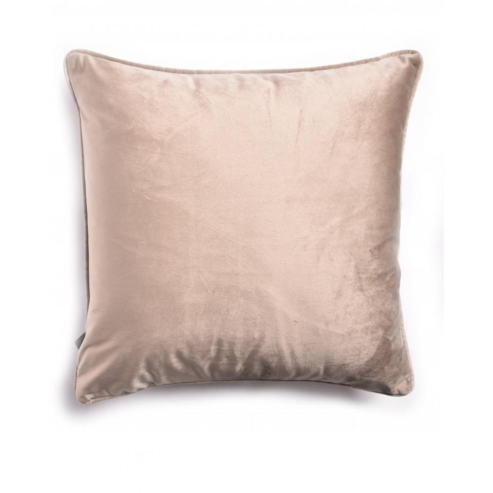 French Velvet Cushion in Mink