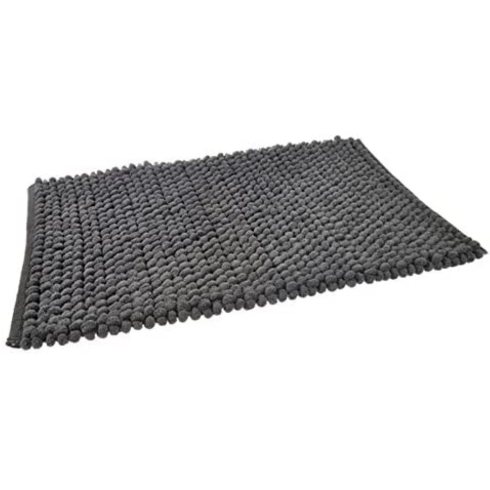 Bobble Bath Mat in Charcoal Grey