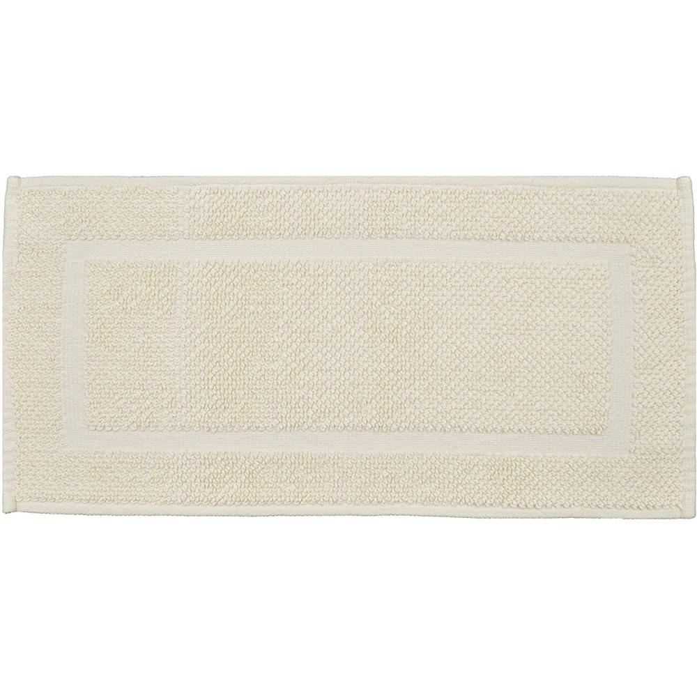 Cotton Bath Mat Runner in Cream