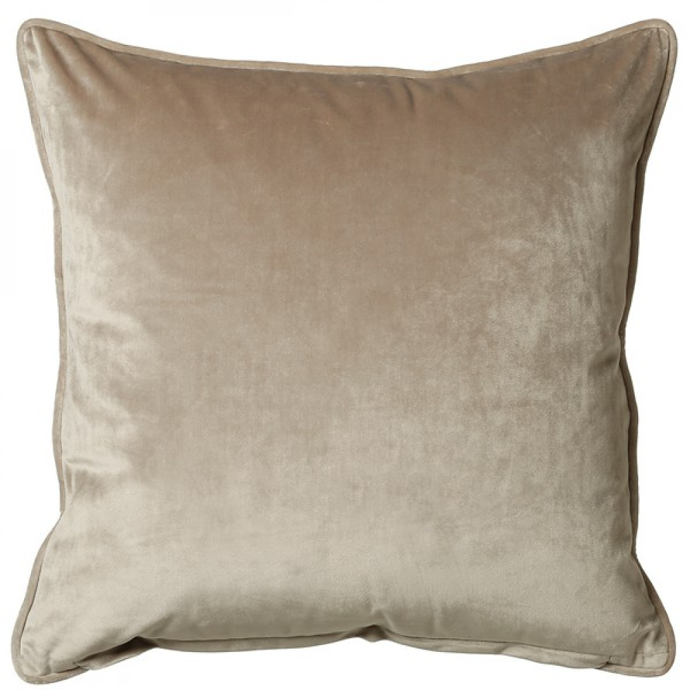 French Velvet Cushion in Taupe