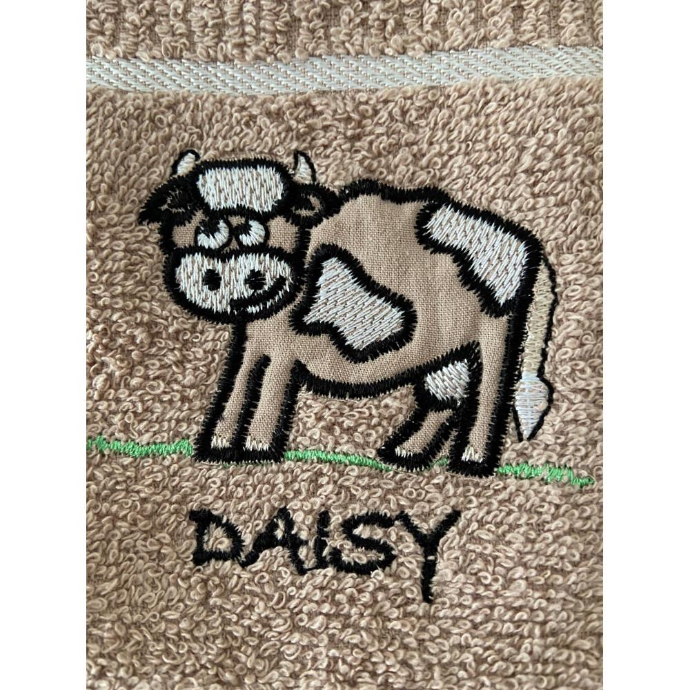 3 Pack 'Daisy' Cow Tea Kitchen Towel Latte
