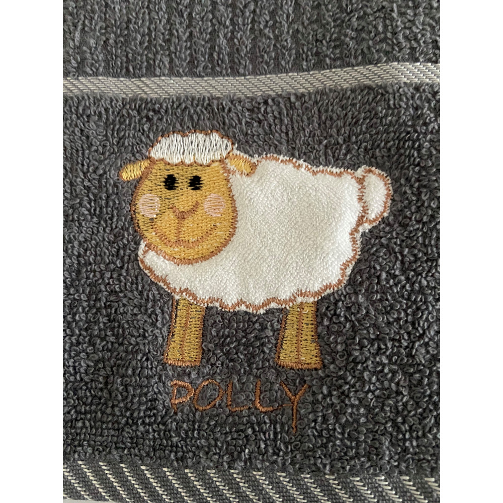 3 Pack Polly Sheep Kitchen Towel Grey