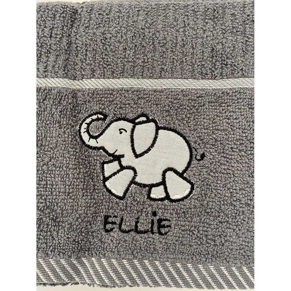 3 Pack Ellie Elephantt Tea Kitchen Towel Grey