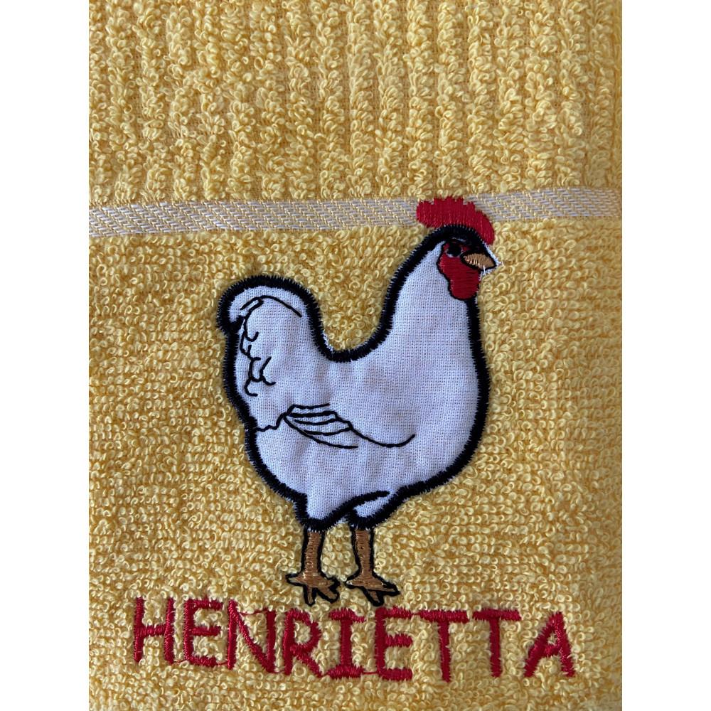 3 Pack Henrietta Hen Kitchen Towel Yellow