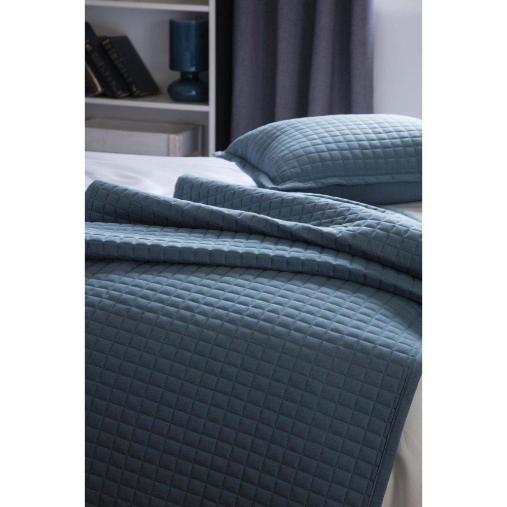 Lightly Quilted Bed Runner / Bedspread Cobalt Blue