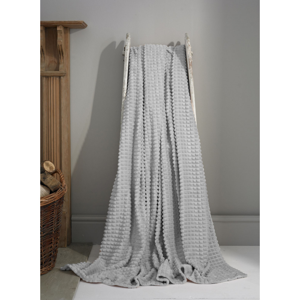 Luxury Supersoft Throw in Silver Grey
