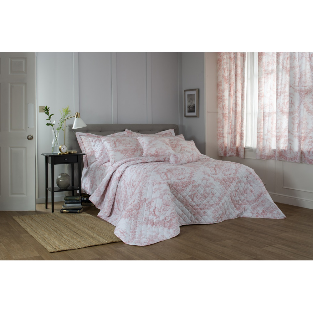 Toile De Jouy in Pink & White
