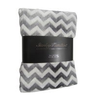 Supersoft Chevron Throw in Grey