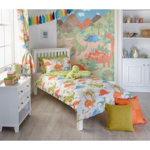 dinosaur duvet set single toddler cot bed curtains wall art cuddly toy blanket. Black Bedroom Furniture Sets. Home Design Ideas