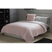Lightly Quilted Bed Runner / Bedspread Powder Pink