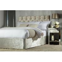 Crushed Velvet Divan Bed Base Wrap in Champagne