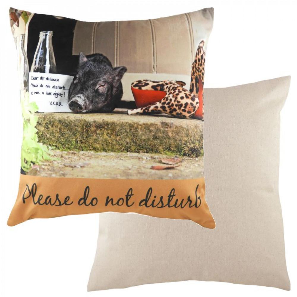 Retro Cushion Cover 'Please Do Not Disturb'