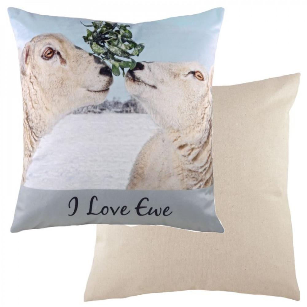 I Love EWE Winter Theme Sheep Cushion