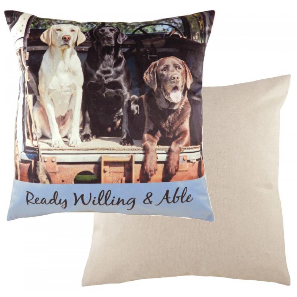 Cute Retro Labrador Cushion