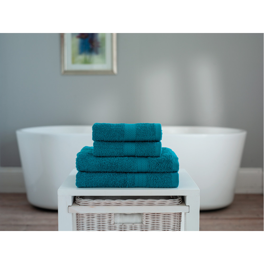 100% Cotton 4 Piece Towel Bale in Teal