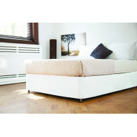 Faux Suede Divan Bed Base Wrap in White