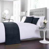 Faux Suede Bed Runner / Cushion Cover in Navy Blue