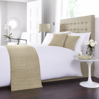 Faux Suede Bed Runner / Cushion Cover in Beige