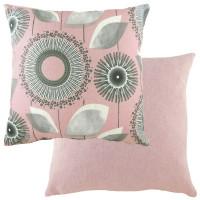 Evans Lichfield Retro Cushion Dandelion Design Pink