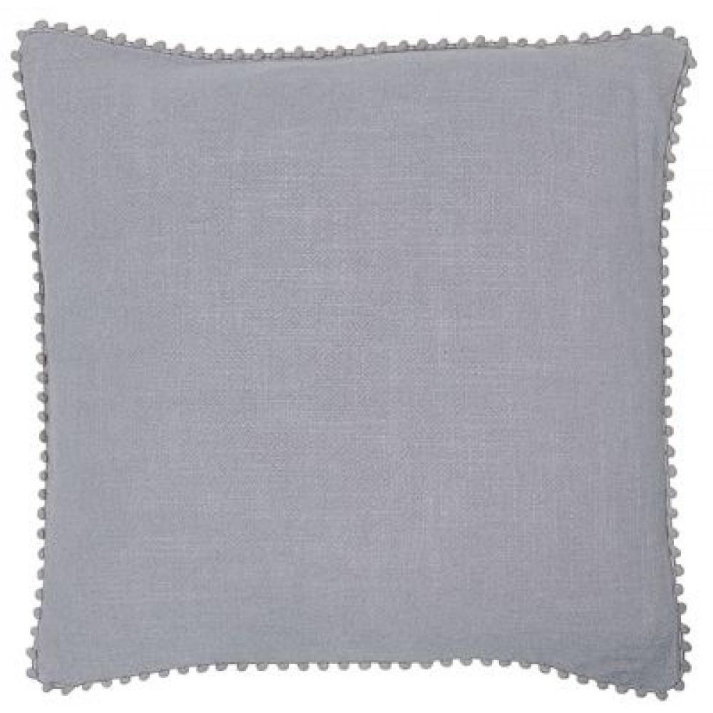 Malini Luxurious Linen Look Cushion in Grey