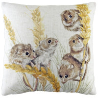 Cute Field Mouse Cushion Cover or Filled